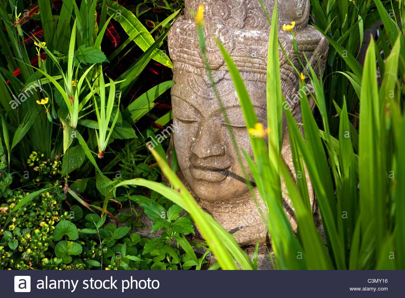Indonesia, Island Bali, Blimbing, or Belimbing, Kedun Resort. Buddha statue. - Stock Image