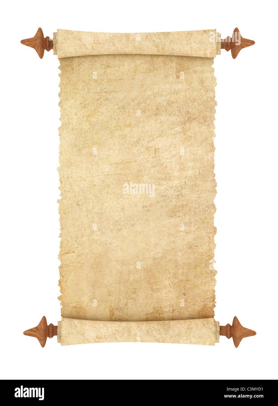 Paper manuscript, scroll - Stock Image