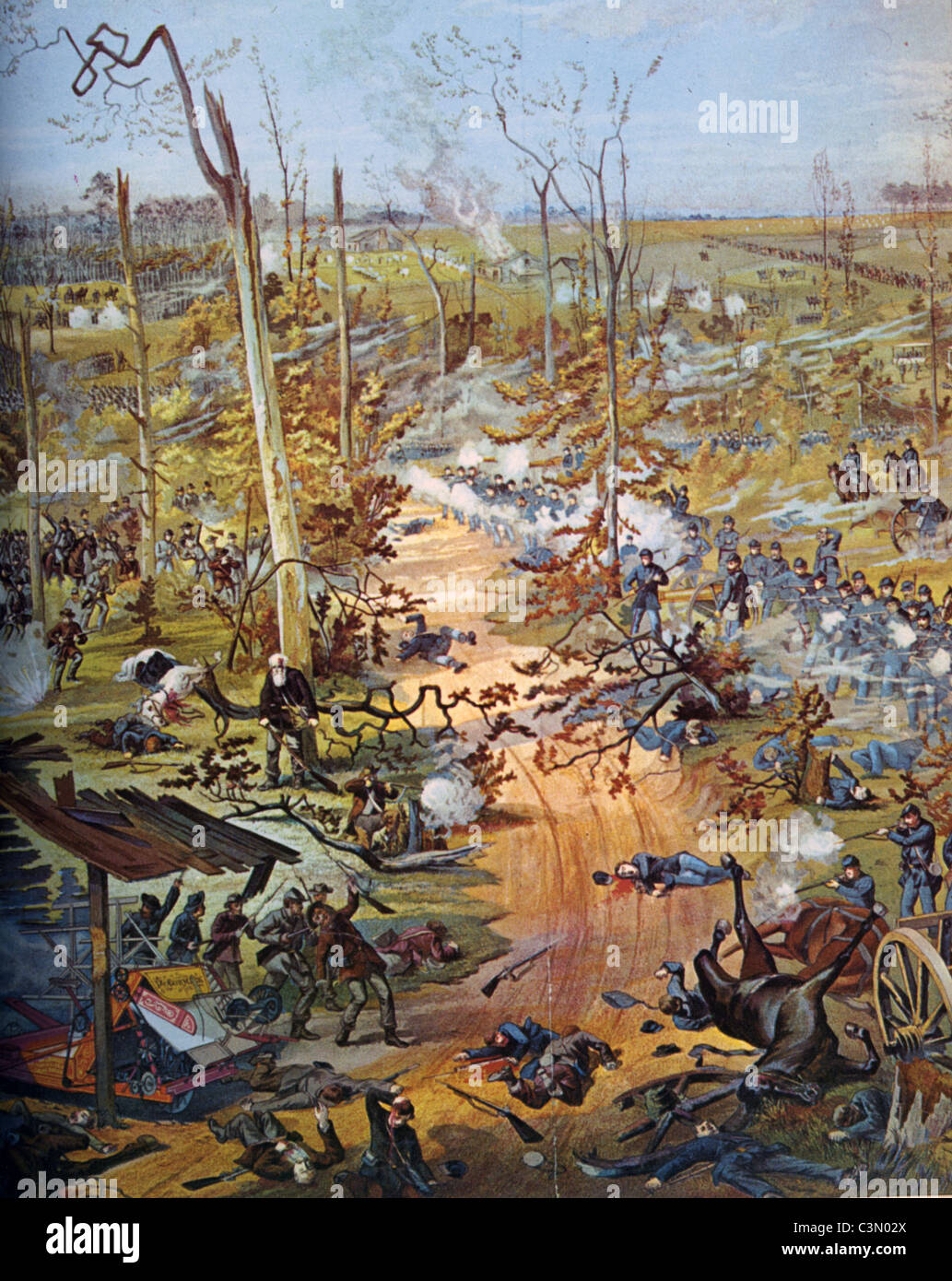 AMERICAN CIVIL WAR: BATTLE OF SHILOH  6-7 April 1862 - Stock Image