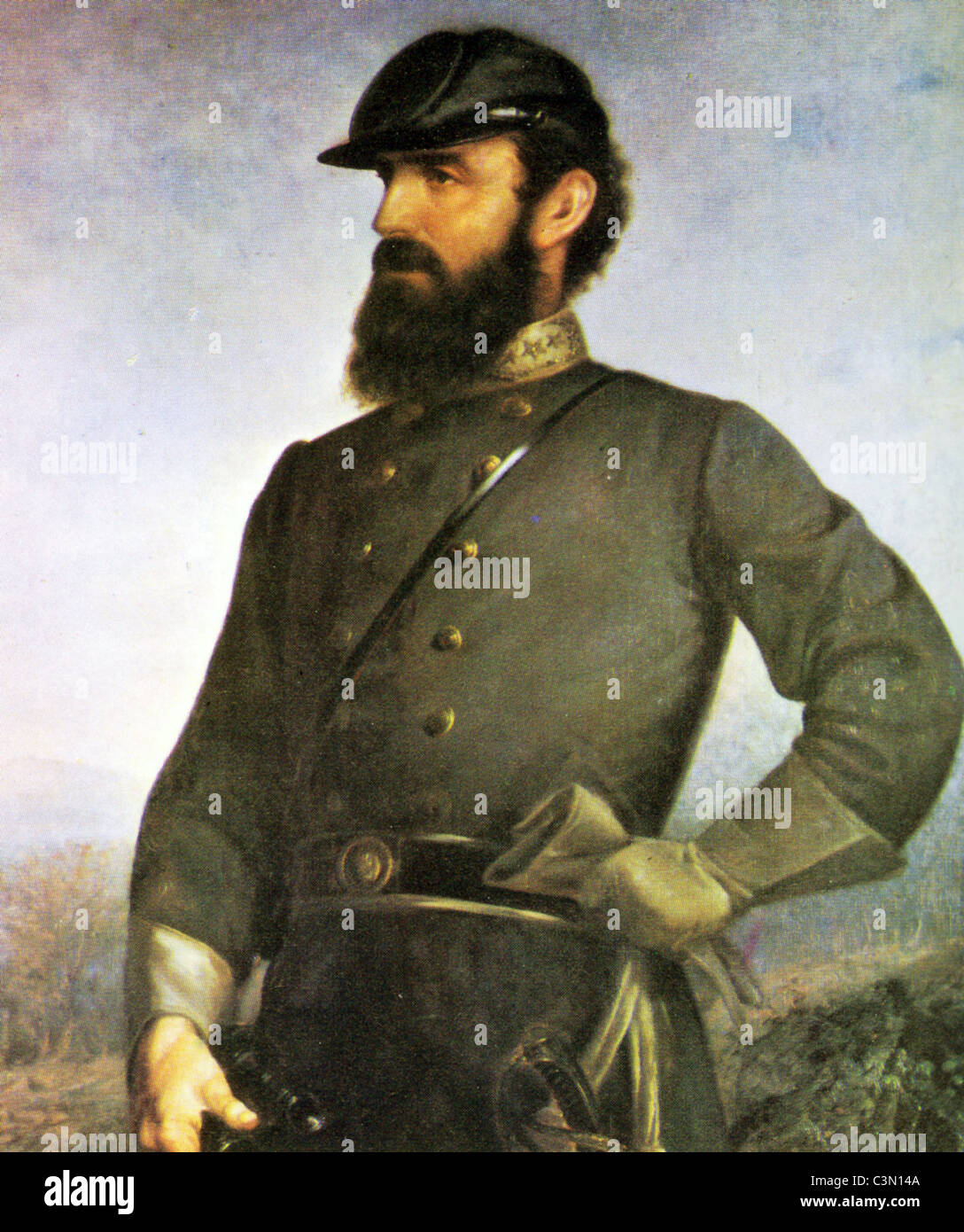 THOMAS 'STONEWALL' JACKSON (1824-1863) Confederate general during the American Civil War - Stock Image