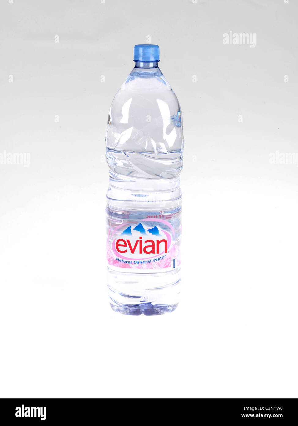 Bottle Evian Water - Stock Image