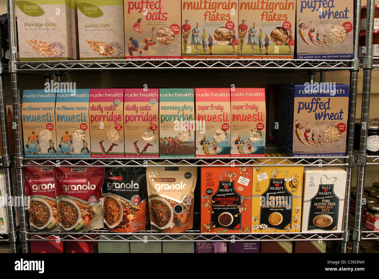 Cereal Display - Stock Image