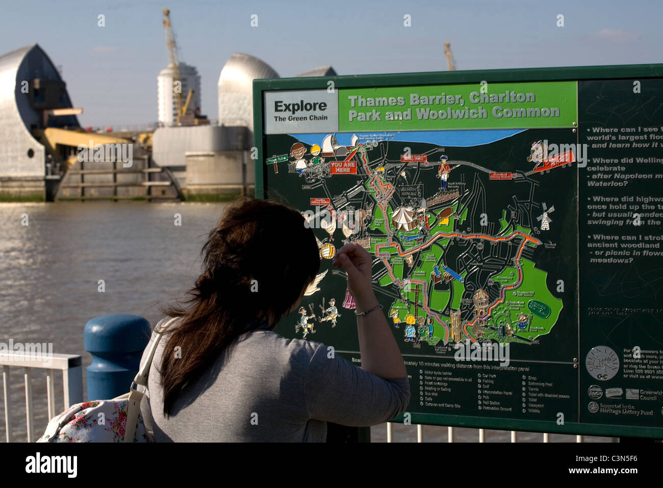 Thames Barrier Charlton London England - Stock Image