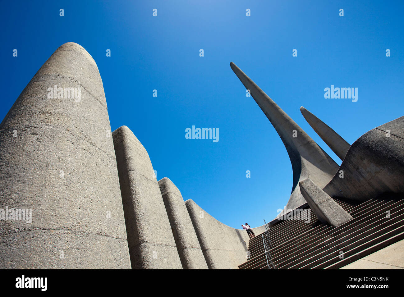 South Africa, Western Cape, Paarl, Afrikaans language monument. - Stock Image