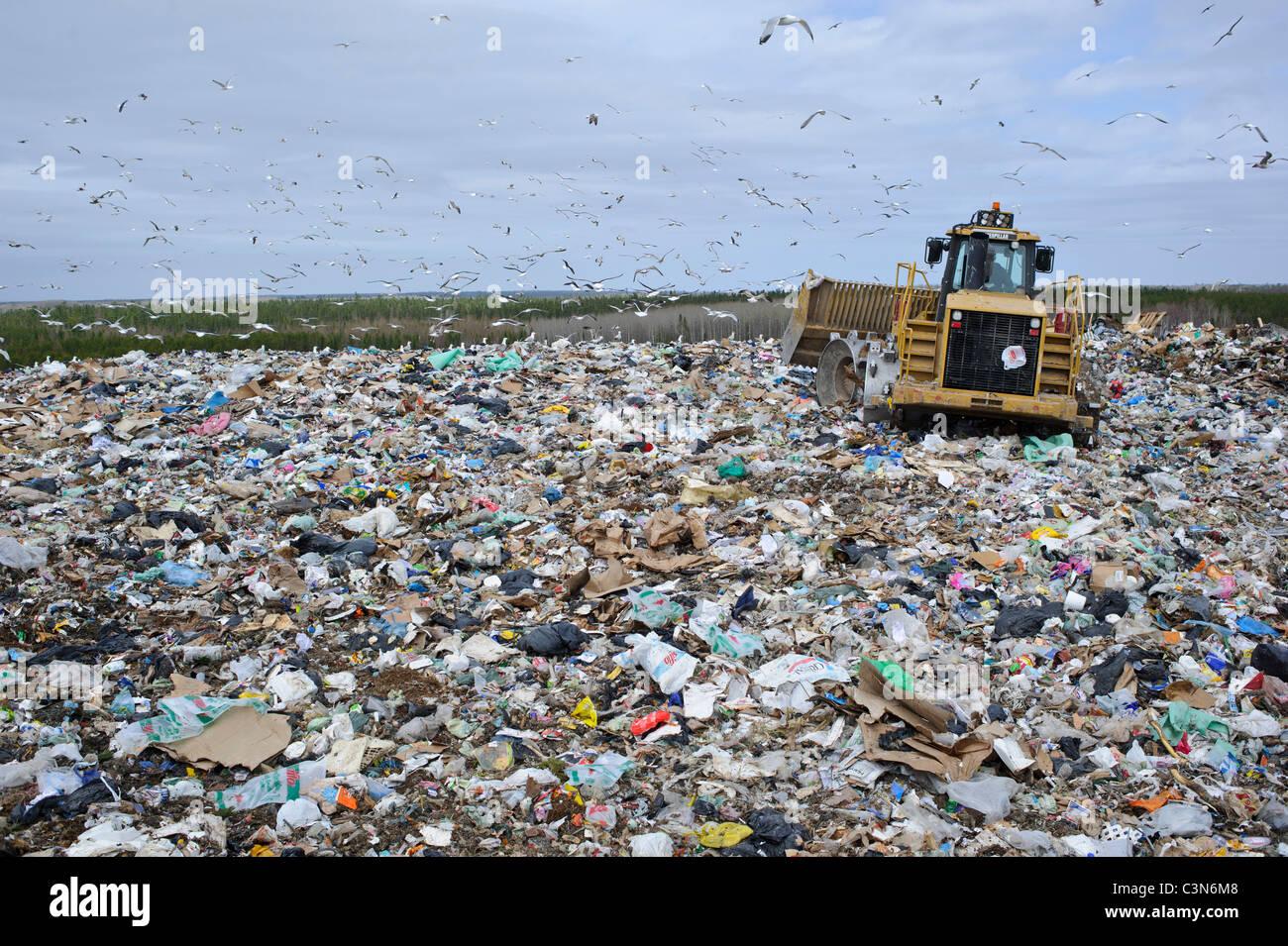 Regional waste management dump in New Brunswick Canada - Stock Image
