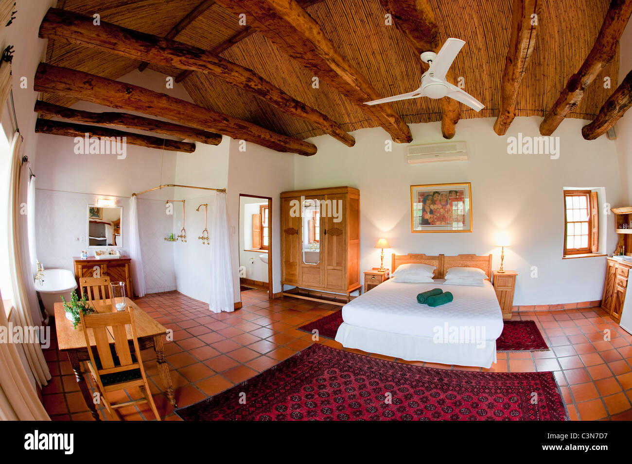 South Africa, Western Cape, Calitzdorp, Red Mountain Nature Reserve. Spacious room. - Stock Image
