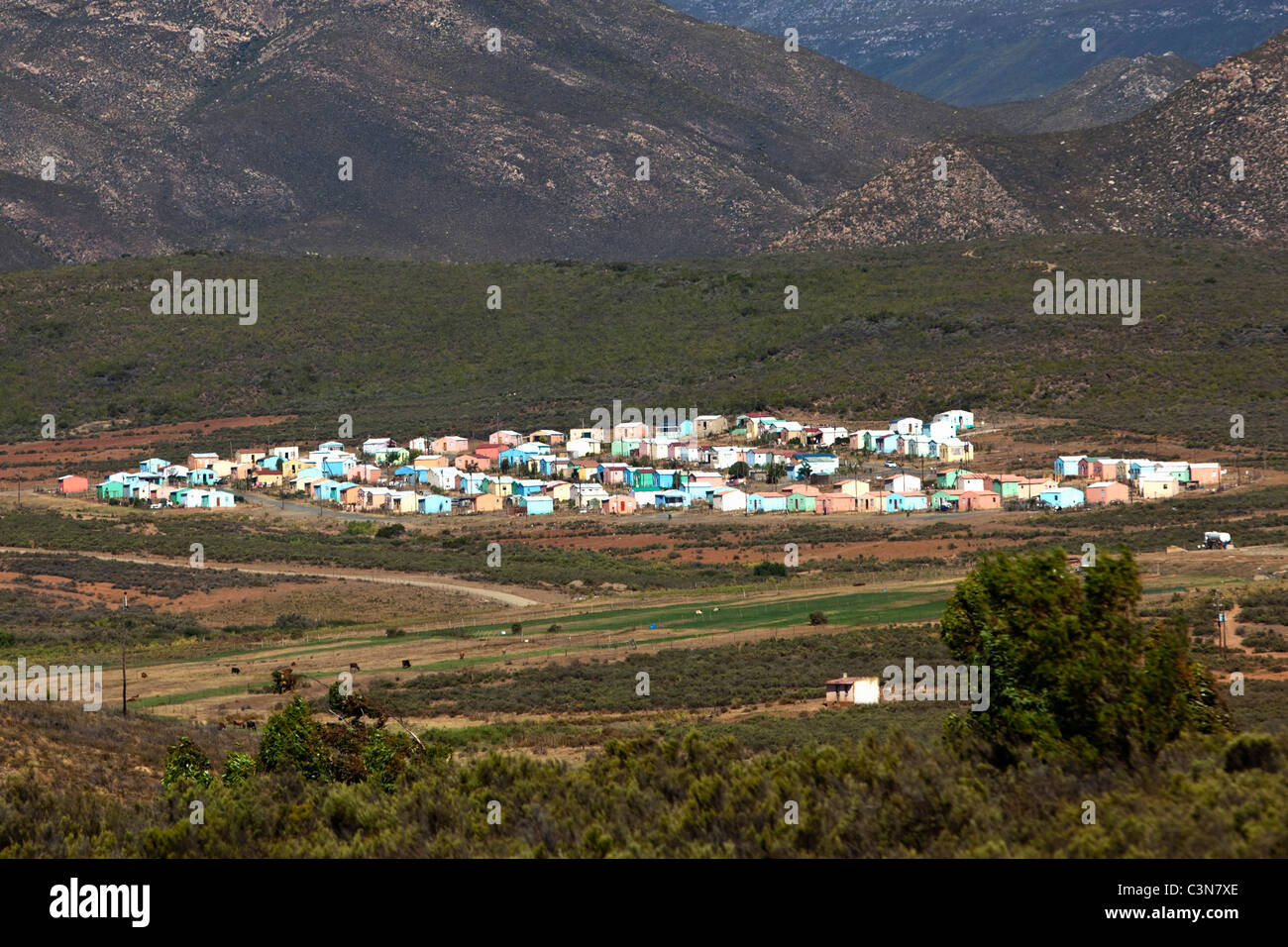 South Africa, Western Cape, Barrydale, Township. - Stock Image