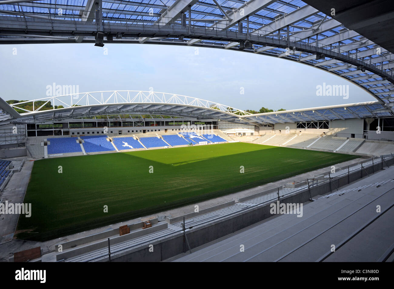 Brighton and Hove Albion's new Football Stadium called the American Express Community Stadium or The Amex - Stock Image