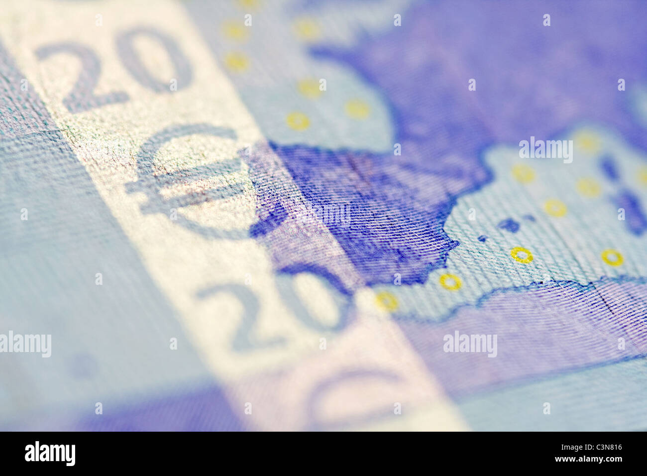 Euro currency of the eurozone - Stock Image