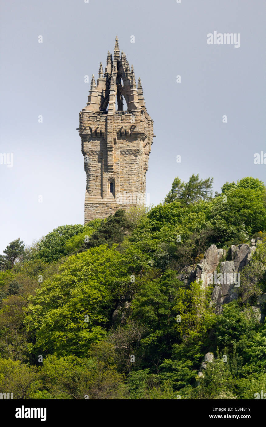 National Wallace Monument  abbey crag stirling scotland - Stock Image