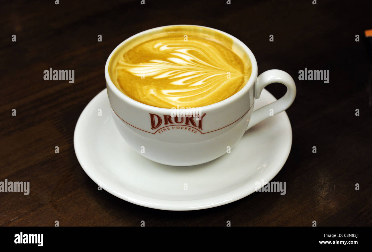 A cup of Drury coffee - Stock Image
