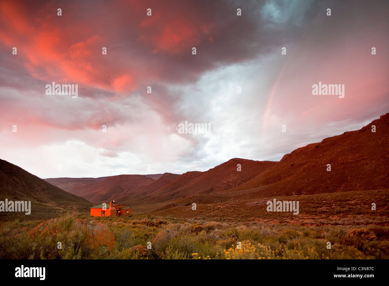 South Africa, Western Cape, Montagu, Simonskloof Mountain Retreat. - Stock Image