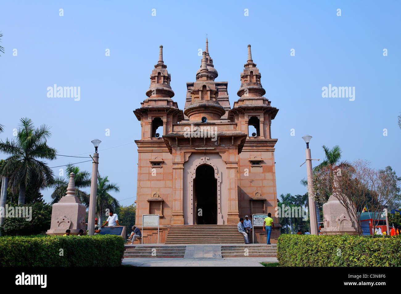 India - Uttar Pradesh - Sarnath - the buddhist Mulganda Kuti Vihar temple - Stock Image