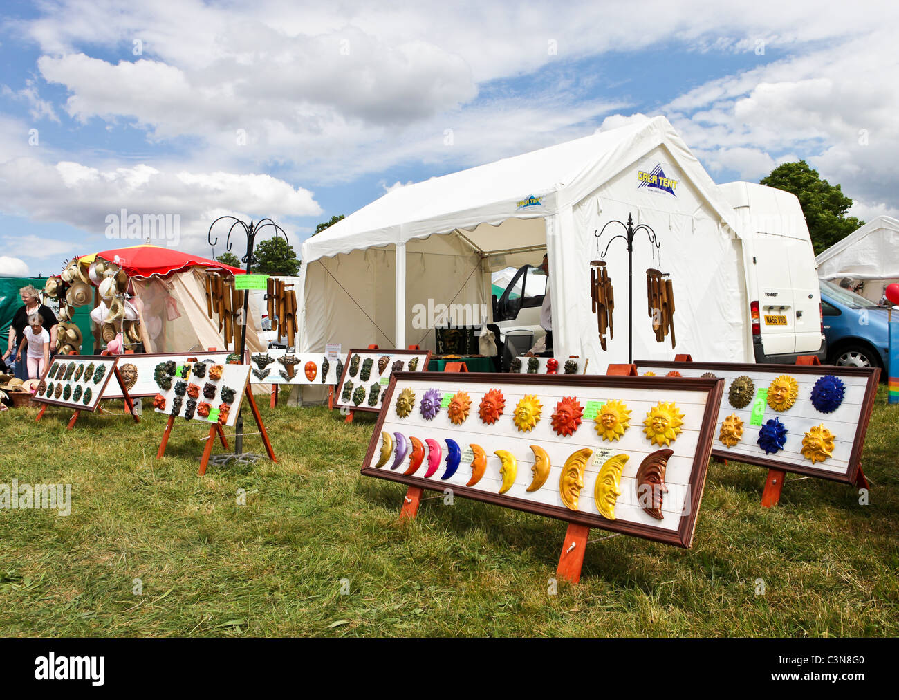 Colorful souvenirs on sale at the South Suffolk Show 2011 - Stock Image