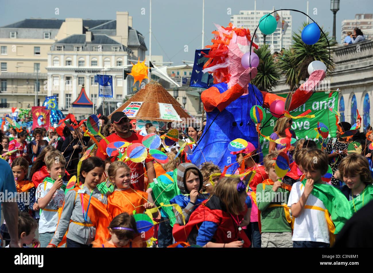 Brighton Festival Children's Parade 2011 - Stock Image