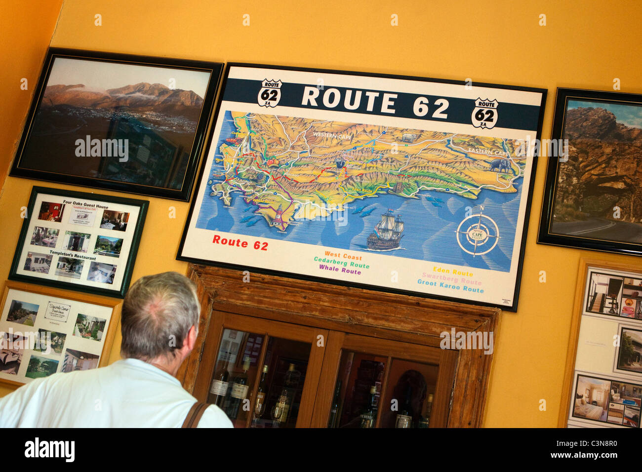 Map Of Route 62 South Africa.South Africa Western Cape Montagu Map Of Route 62 In Tourist