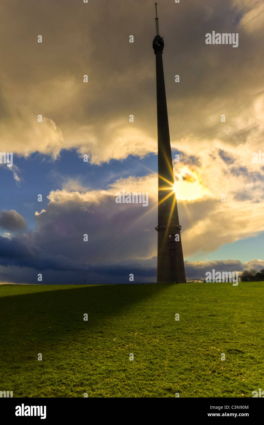 TV Mast Near Emley and Holmfirth, Yorkshire - Stock Image