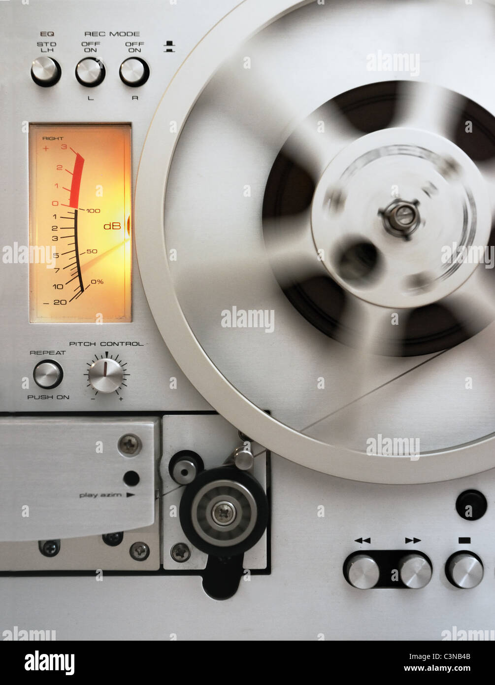 A reel-to-reel tape recorder - Stock Image