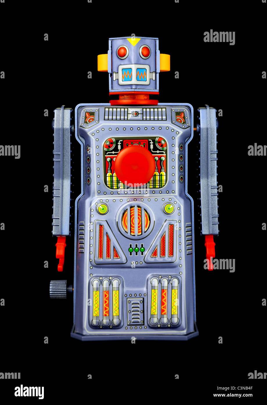 vintage toy robot - Stock Image
