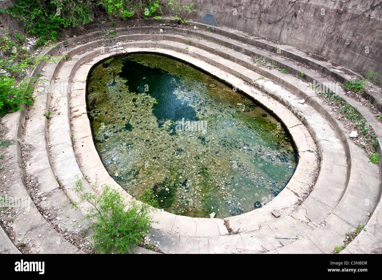 Eliza Springs, enclosure, Barton Springs & Austin Blind Salamanders - Stock Image