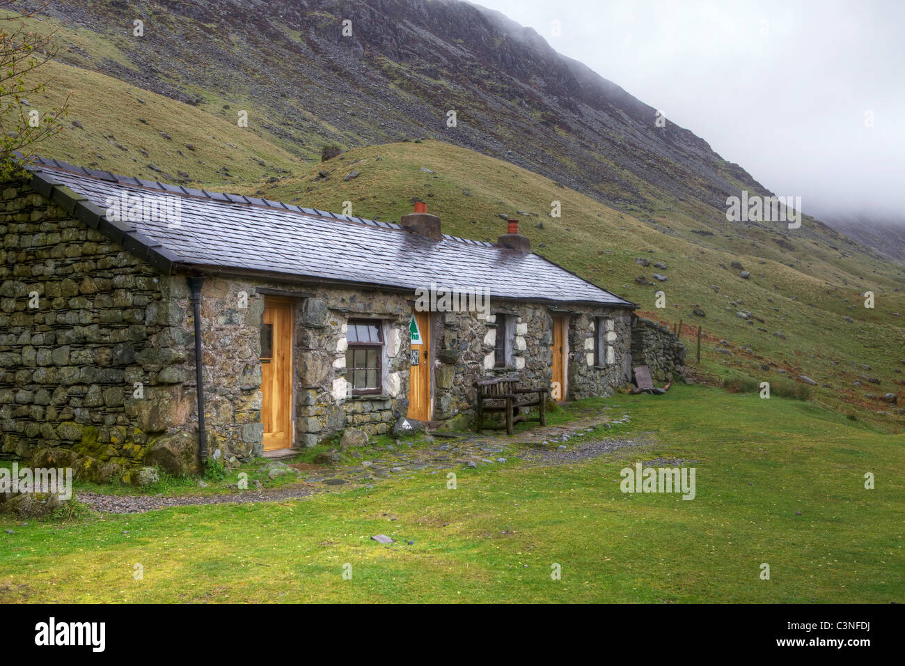 YHA Black Sail at the Top of Ennerdale Valley - Stock Image