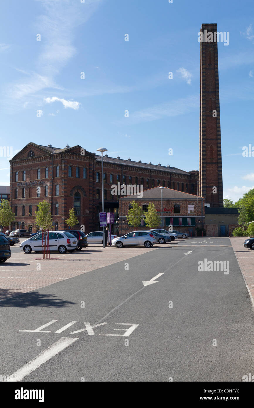 Shops and restaurants in what used to be Brintons carpet factory