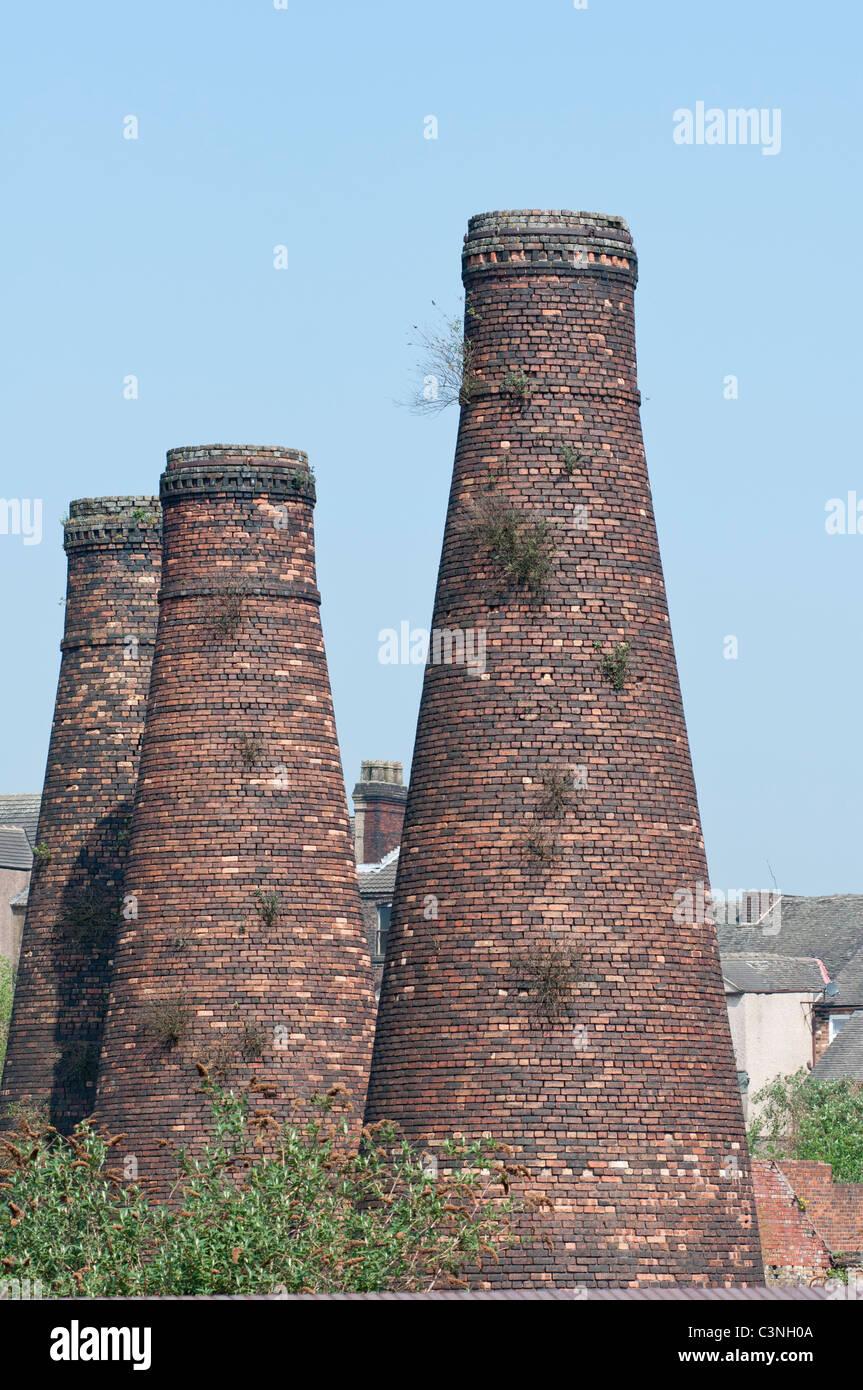 Acme Marls Pottery Bottle Kilns at Burslem Stoke on Trent. Staffordshire. UK - Stock Image