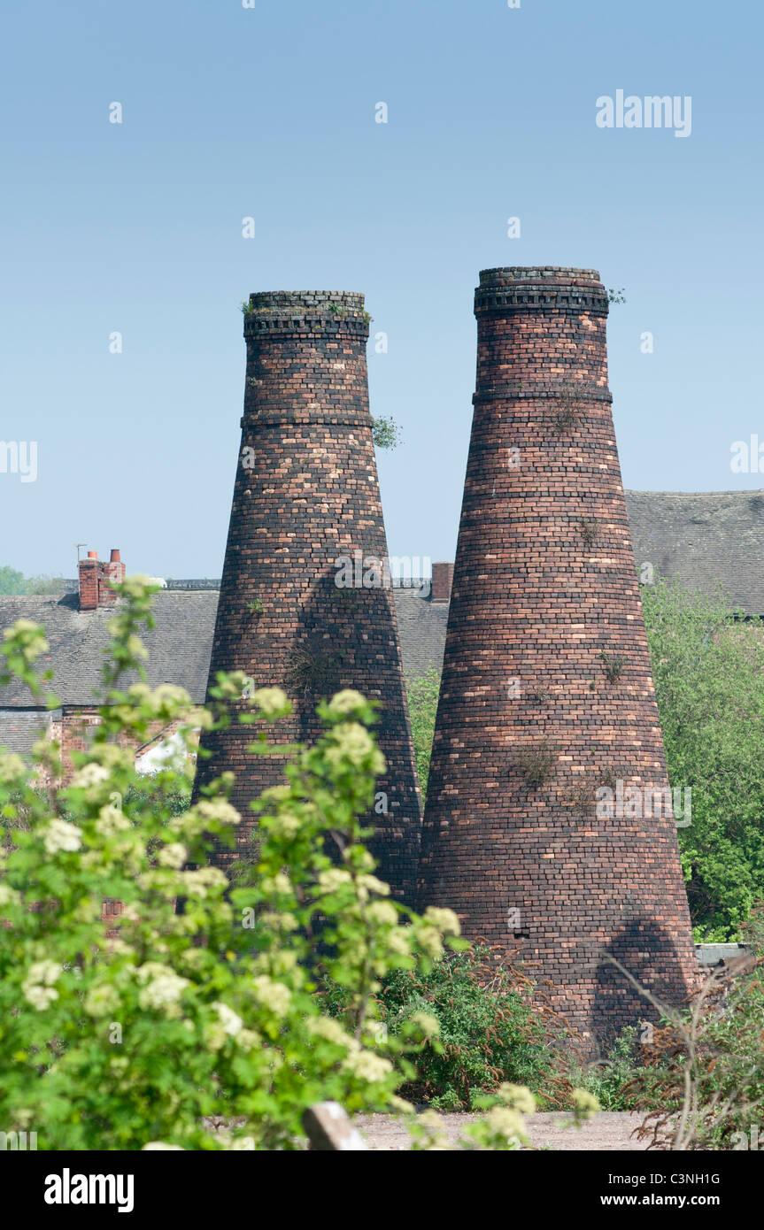 Acme Marls Pottery Bottle Kilns at Burslem Stoke on Trent - Stock Image