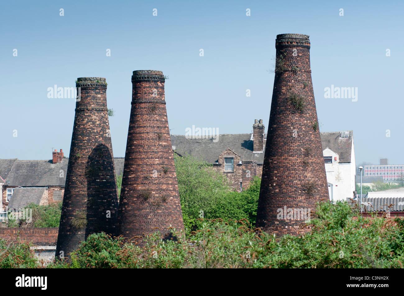 Acme Marls Pottery Bottle Kilns at Burslem Stoke on Trent, England. - Stock Image