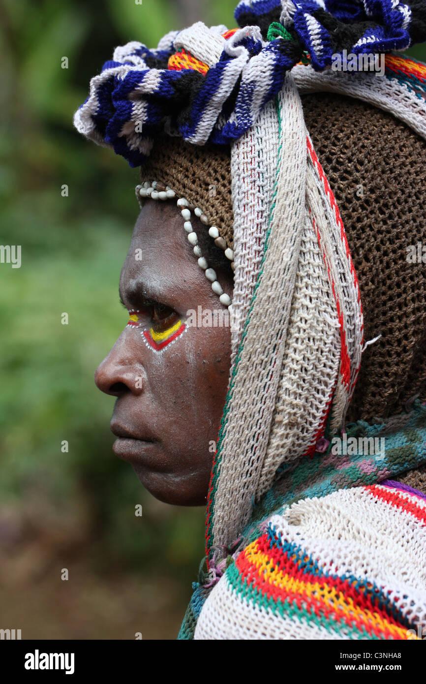 Huli Woman - Stock Image