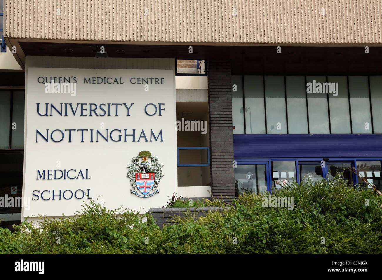 The Queen's Medical Centre (QMC), Medical School, University Hospital, Nottingham, England, U.K. - Stock Image