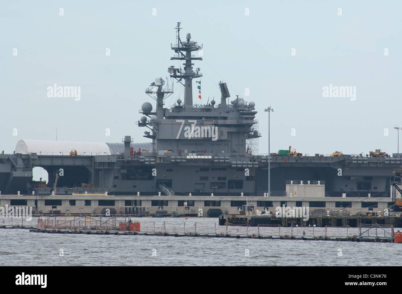 Virginia, Norfolk, Norfolk Naval Station. USS George H.W. Bush (CVN-77