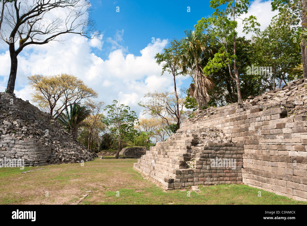 Maya ruins, Lubaantum, Belize. - Stock Image