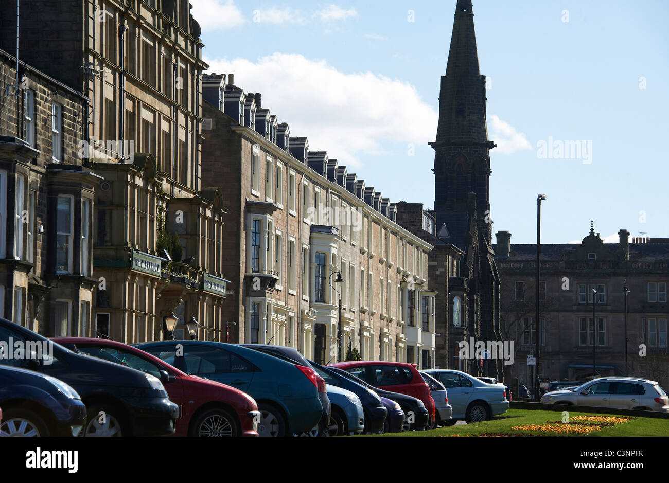 Yorkshire Terrace: Harrogate North Yorkshire England Victorian Stock Photos