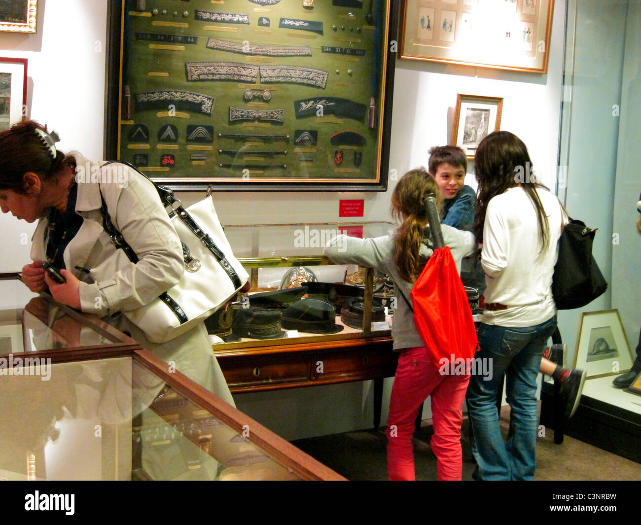 Paris, France, People Looking Visiting Musee de la Prefecture de Paris, Po-lice Museum, - Stock Image
