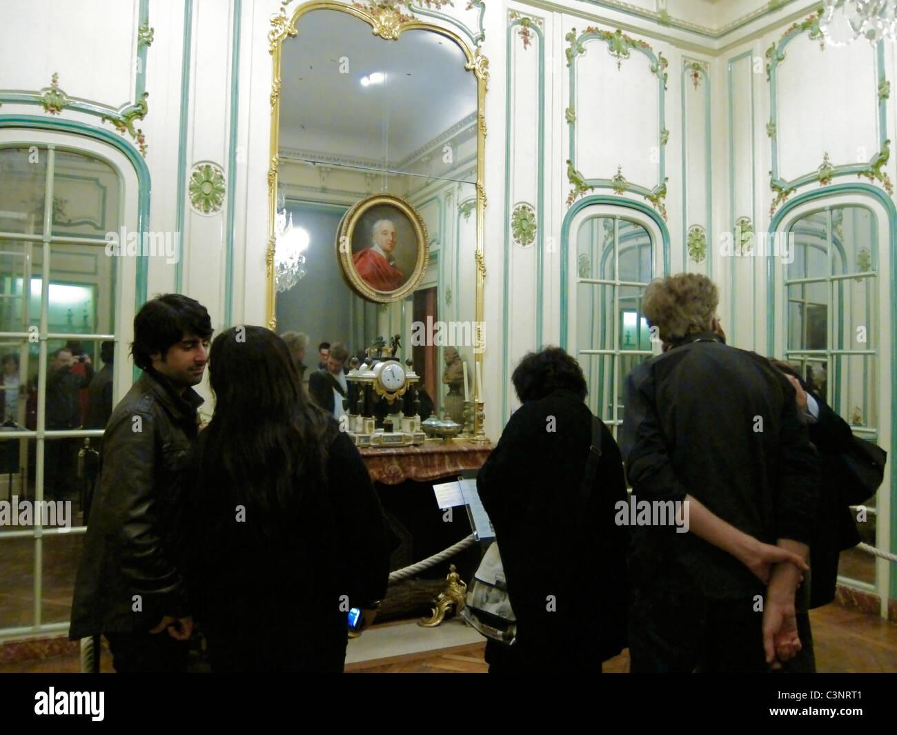 Paris, France, People Visiting 'Musee Carnavalet',' Musee de l'Histoire', City of Paris Museum, - Stock Image