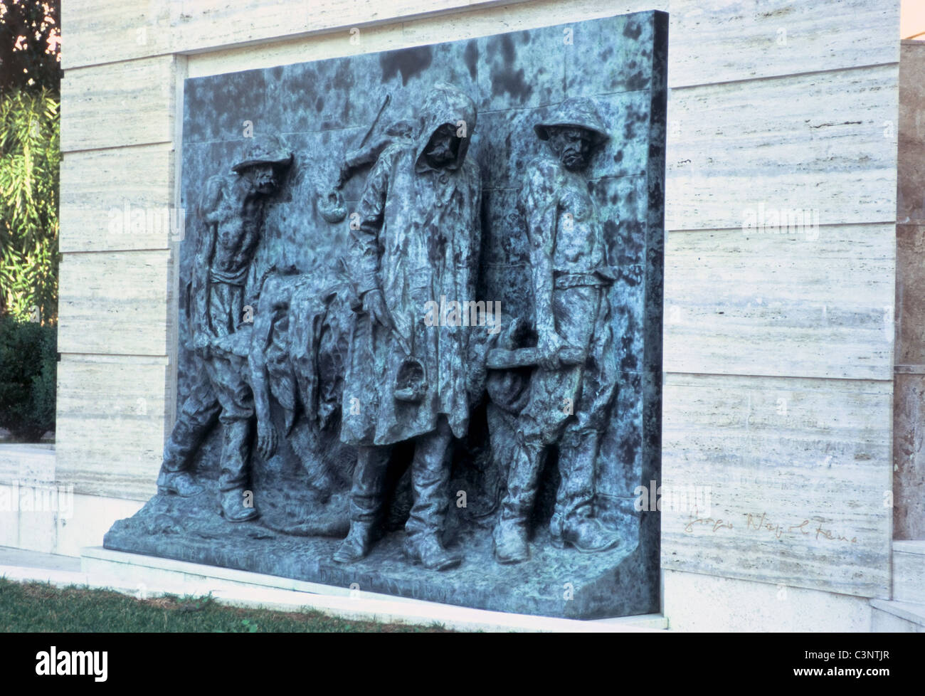 Monument to workplace accident victims - Stock Image