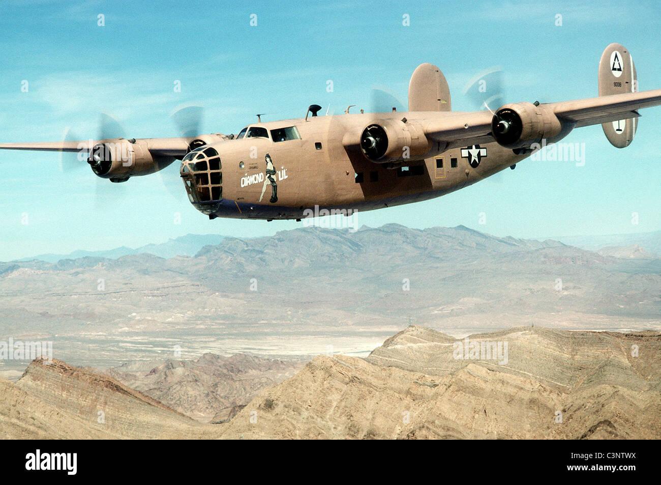 Consolidated B-24 Liberator American heavy bomber Stock Photo