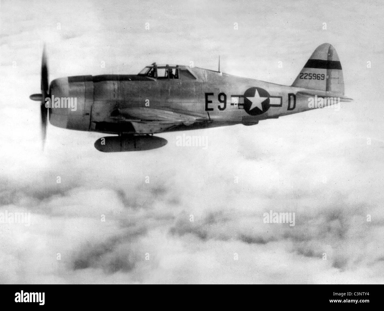 Republic Aviation P-47 Thunderbolt aircraft - Stock Image