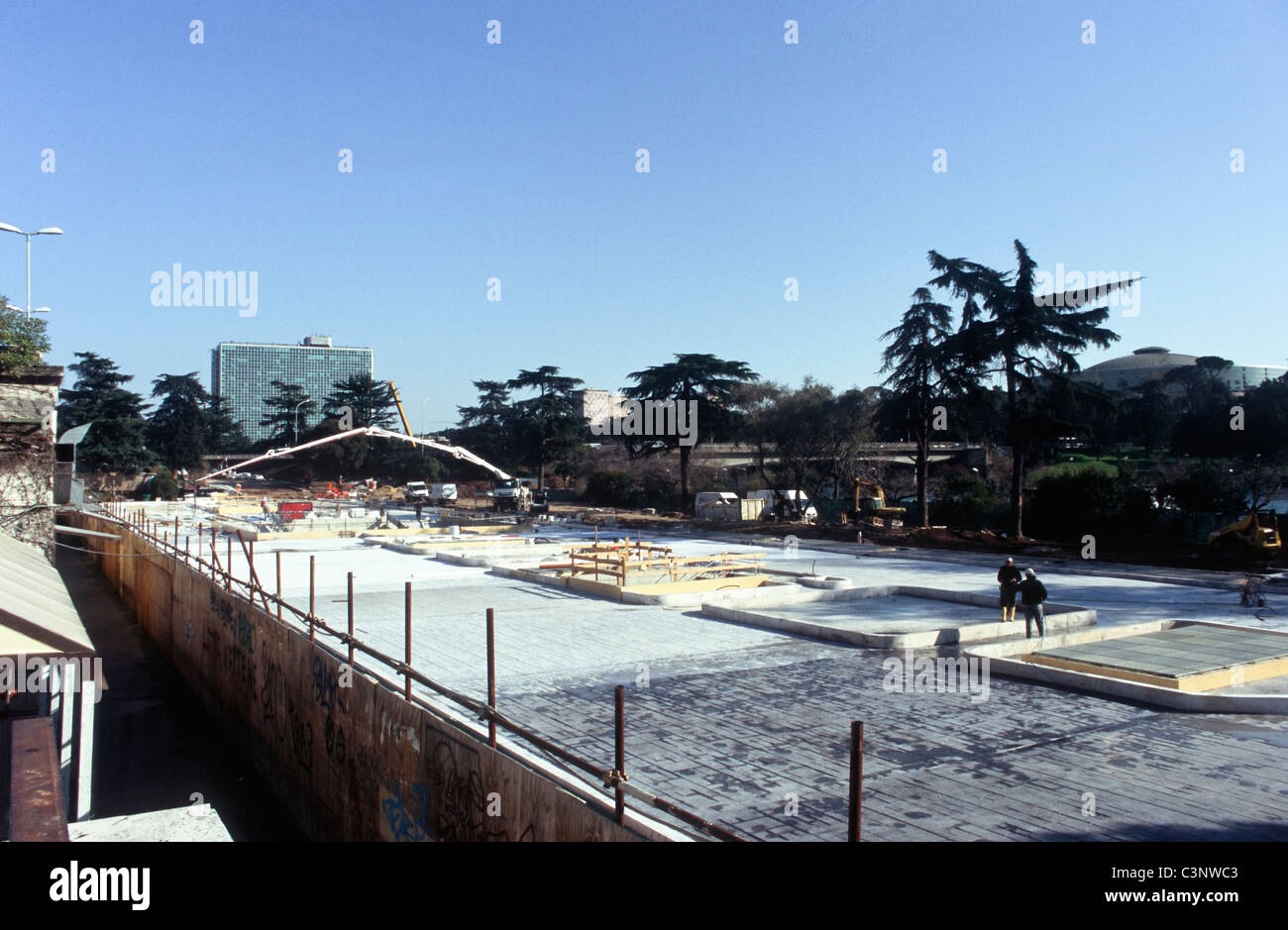 Construction works for the Aquarium of the EUR district in Rome, Italy, 2011. - Stock Image