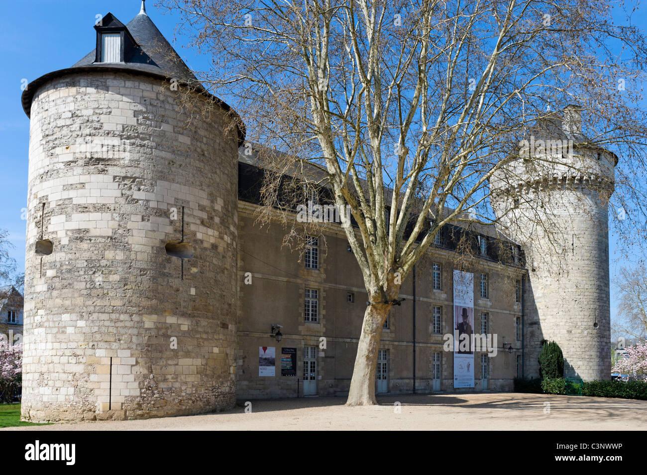 The remains of the Chateau de Tours, Tours, Indre et Loire, France - Stock Image