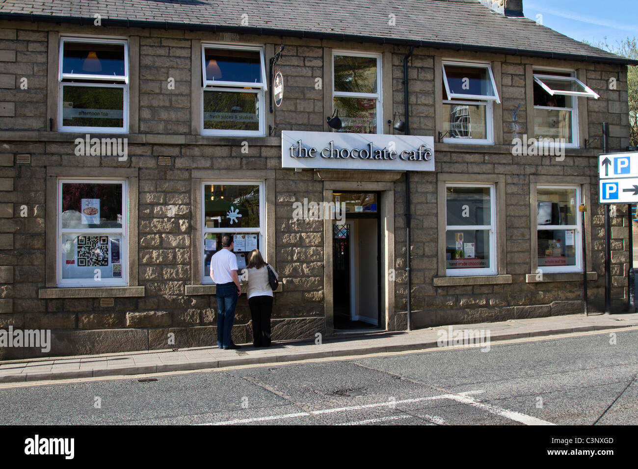 The Chocolate Shop Cafe In Ramsbottom Lancashire Uk Stock