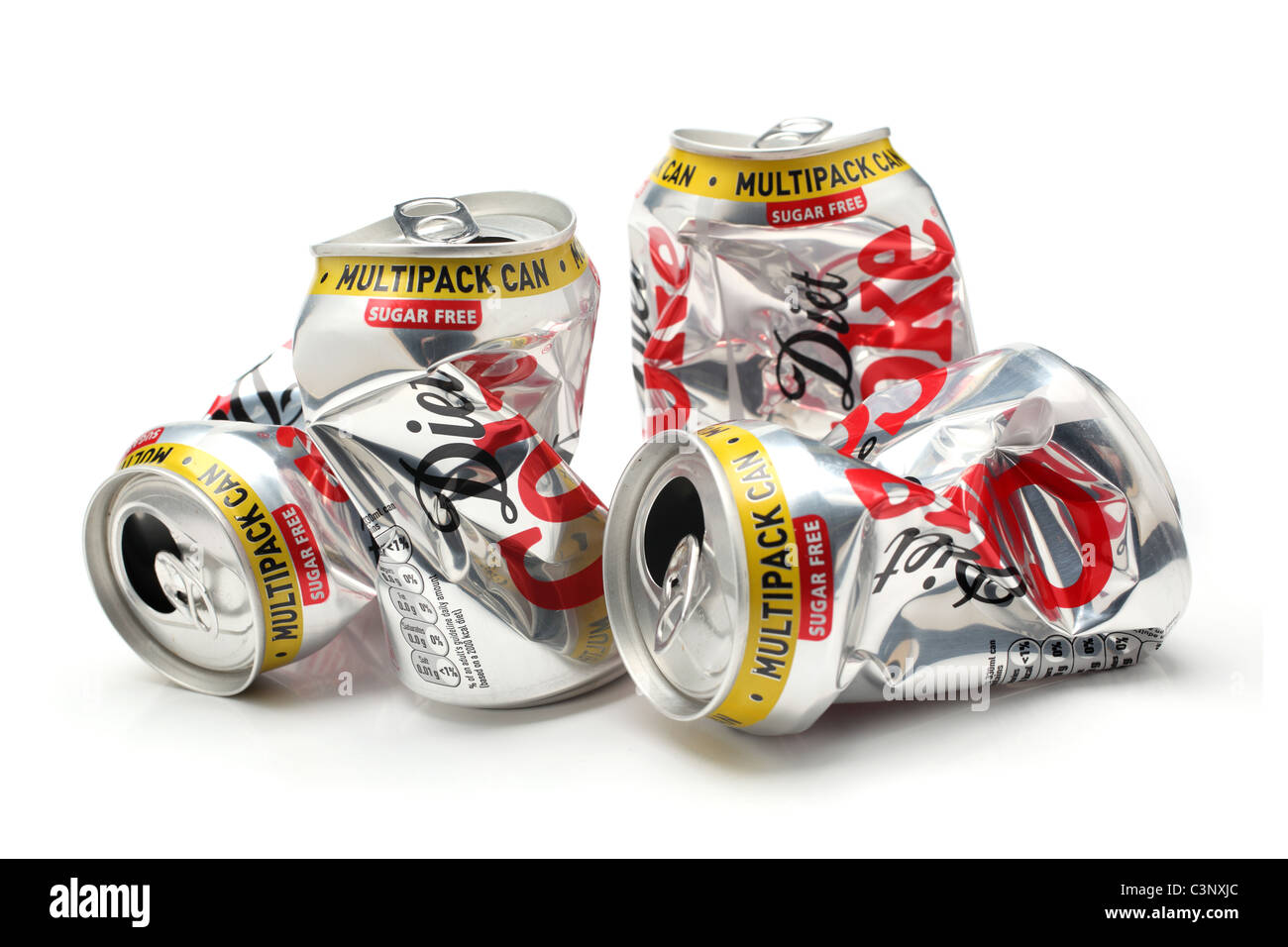 recycling tin metallic package - Stock Image