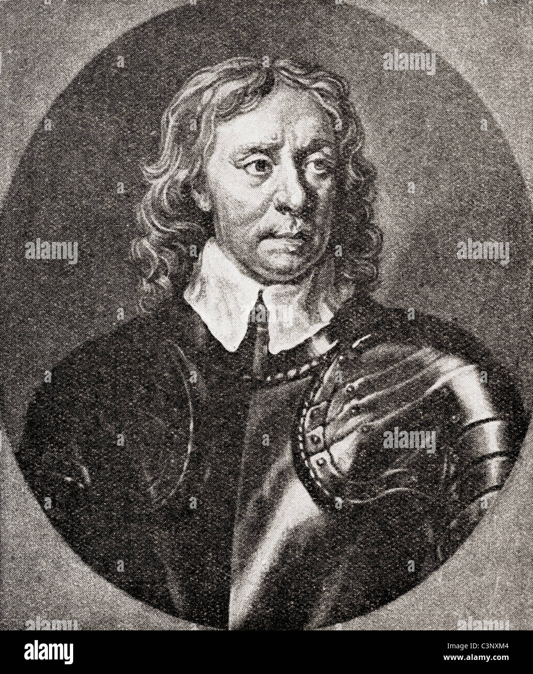 Oliver Cromwell, 1599 – 1658. English military and political leader and Lord Protector of England, - Stock Image