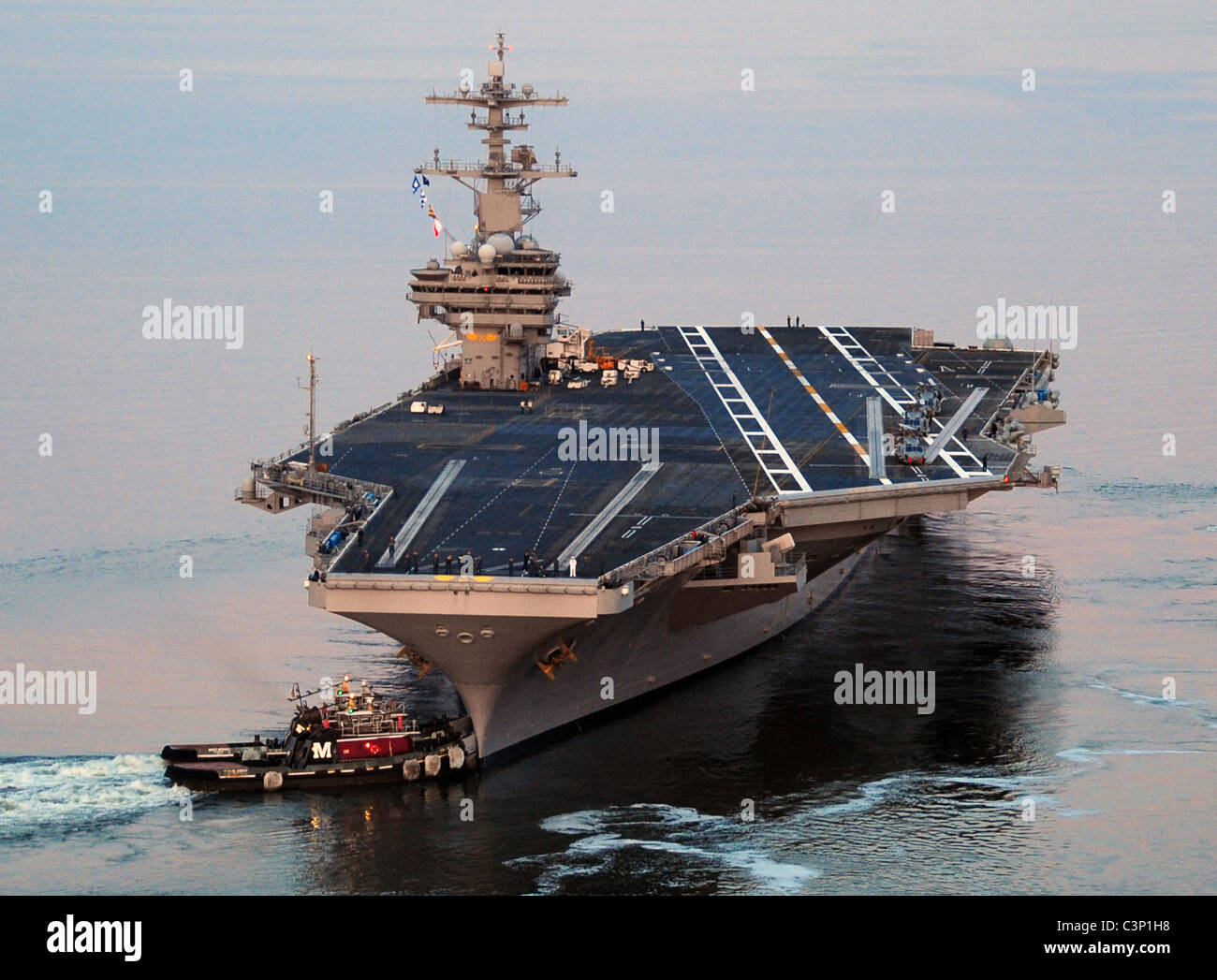 Aircraft carrier USS H W  Bush, the newest in the US Naval