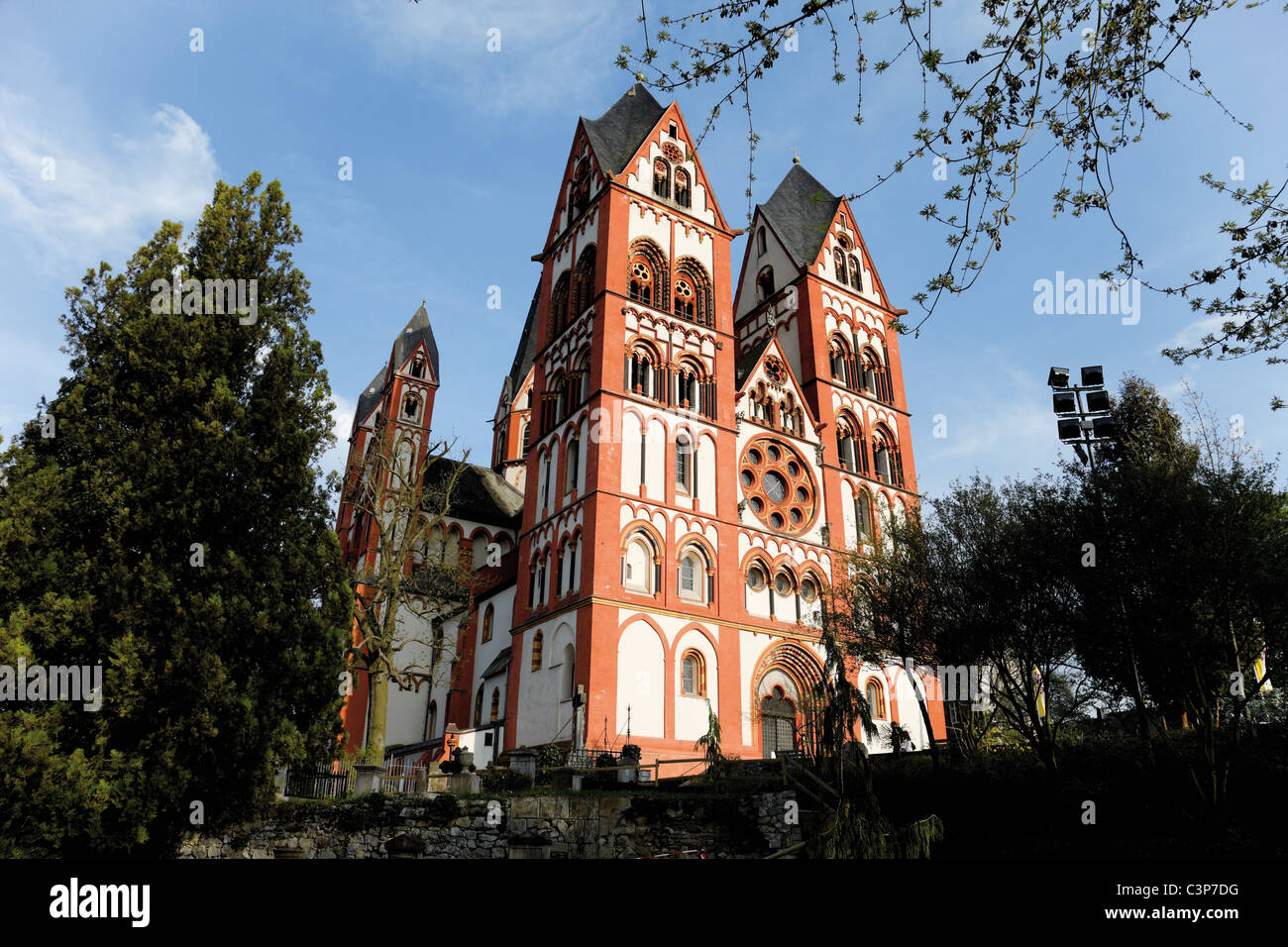 Germany, Hesse, Limburg Cathedral low angle view - Stock Image