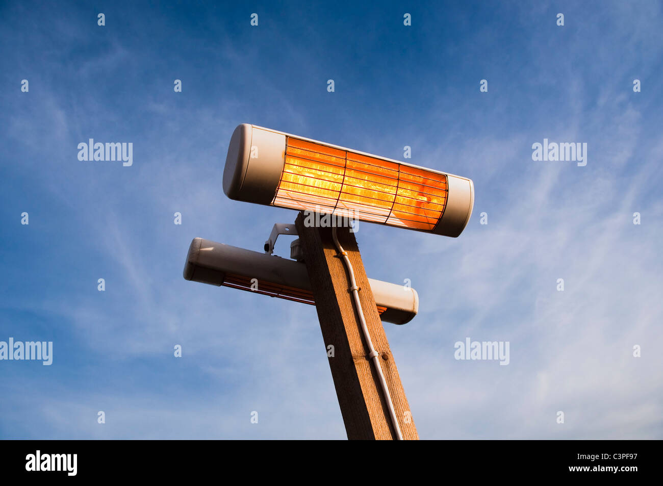 Outdoor electric heater - Stock Image