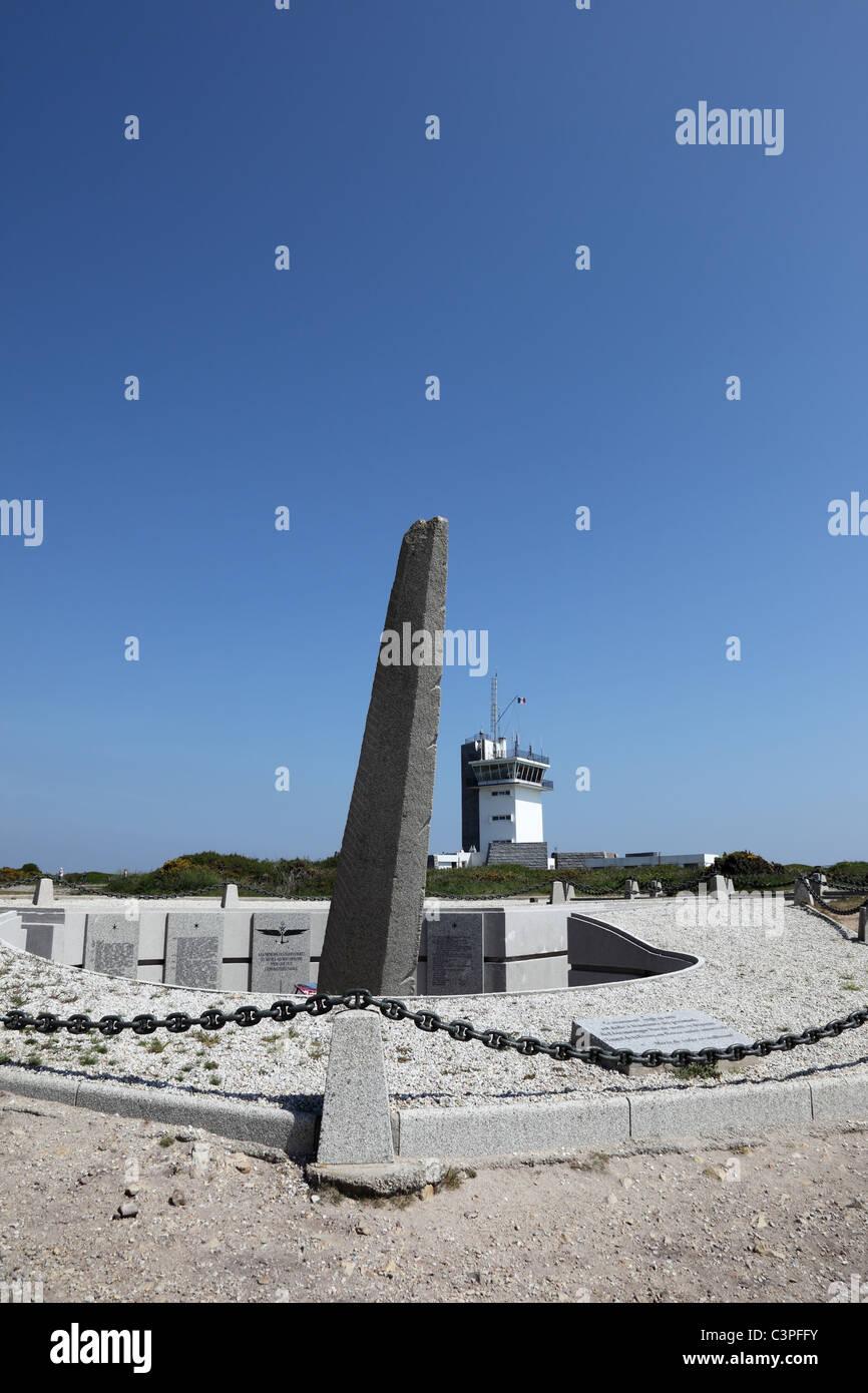 Monument at the Cap de la Chevre Brittany France - Stock Image