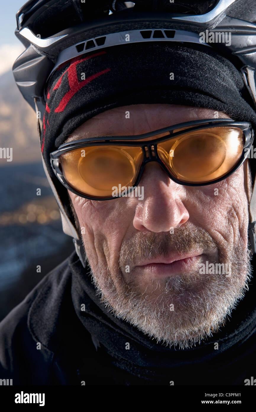Austria, Tyrol, Mountainbiker, close-up - Stock Image