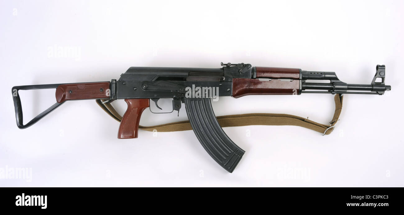 Chinese Type 56-2 assault rifle. Based on the Kalashnikov weapon this pattern is widely exported. - Stock Image